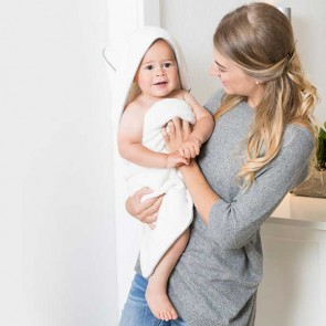 Home-Baby-Kinder-Kapuzentuch grau-grau